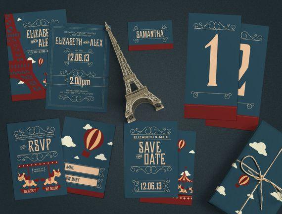 Paris Invitation Set
