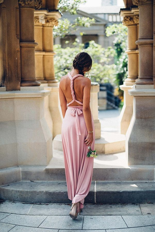 e0f507dd4a Classic Multiway Infinity Dress in Dusty Pink. Wrap bridesmaid dress in dusty  pink. Long bridesmaid dress available in a range of colours.