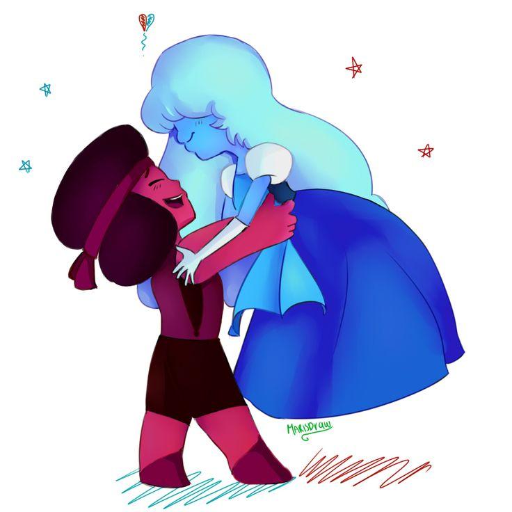 nuevo dibujop espero les guste ,.. ruby y zafiro