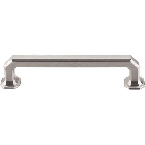 top knobs chareau 5 inch center to center handle cabinet pull brushed satin nickel cabinet hardware pulls handle