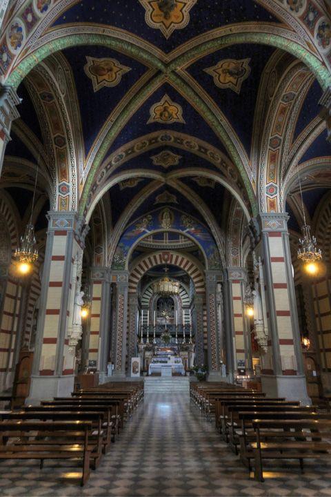 SANTA MARGHERITA: La Basilica di Santa Margherita a Cortona. Italy Tuscany