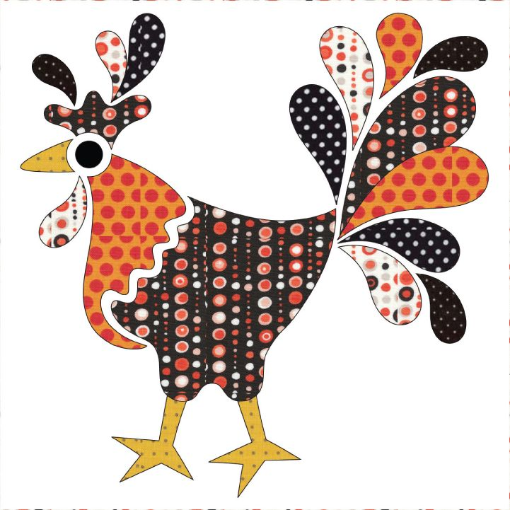 (7) Name: 'Quilting : Applique Add On's - King of the Coop