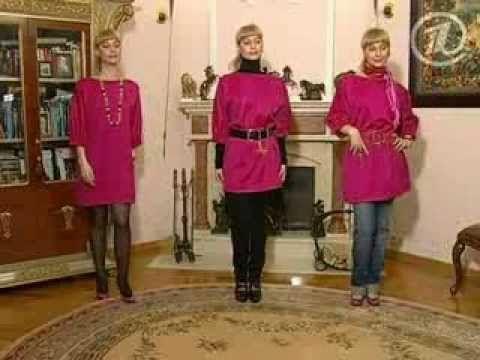 060 - Ольга Никишичева. Блуза-платье за полчаса - YouTube