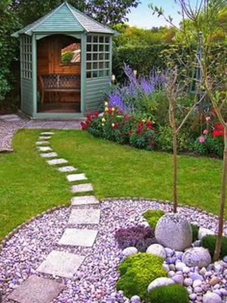 Beautiful Gardens - (interesting touch to have stepping stones detour through rock garden - /B.)