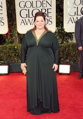I LOVE Melissa McCarthy but oh, honey, fire your stylist. Twice.