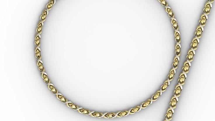 Złota bransoletka. / Gold bracelet.