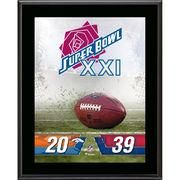 "#NFLShop.com - #NFLShop.com Fanatics Authentic New York Giants vs. Denver Broncos Super Bowl XXI 10.5"" x 13"" Sublimated Plaque - AdoreWe.com"