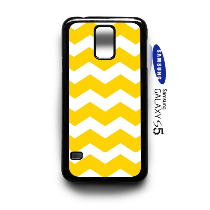 Chevron Yellow Samsung Galaxy S5 Case Cover