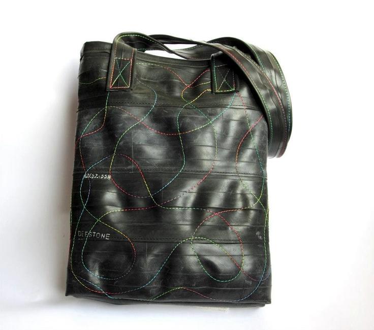 Recycled Inner Tube Shopping Bag