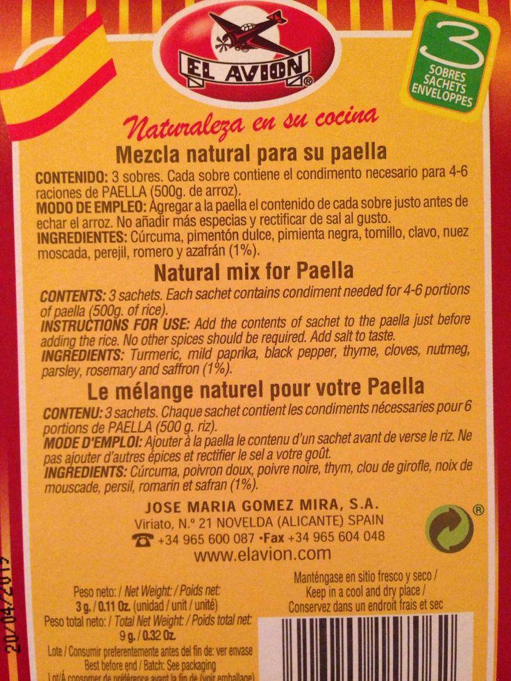 Condimente pt. Paella
