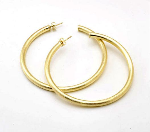 Sheila Fajl's most popular hoop! Perfect in thickness & diameter for everyday wear! 2 1/2'' diameter
