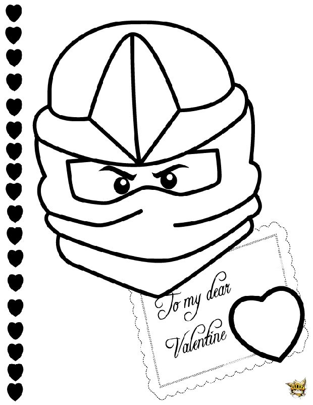 Lettre de saint valentin Ninjago