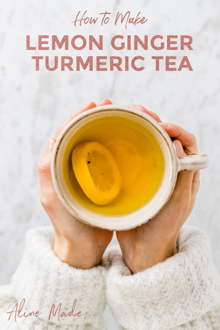 This warming and healing Lemon Ginger Turmeric Tea is the perfect companion throughout winter! It's pleasant, delicious and anti-inflammatory. #turmeric #tea #recipe #inflammation #lemon #ginger