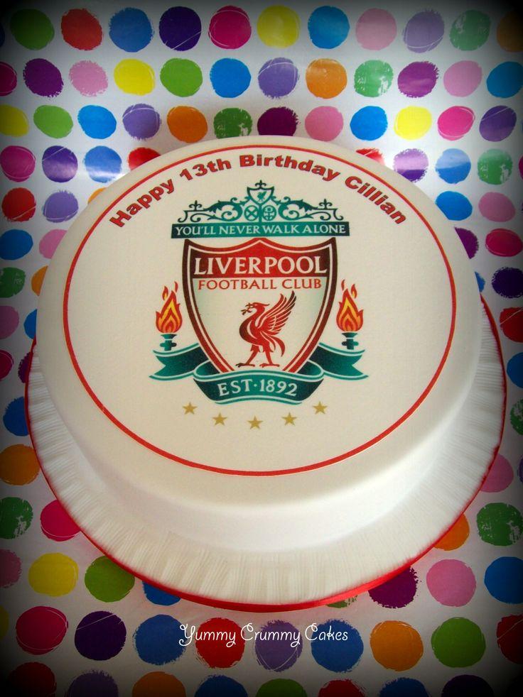 Liverpool Crest Cake Topper