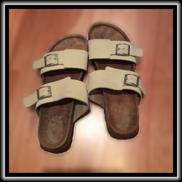 """Birkenstock Betula  Sandals Bought online """"new"""" from private party. Great shape, soles unused, but a few light scuffs on straps.  (Please look closely at photos.) I have not tried to lean scuffs off, and haven't worn them since I got them.  Time to let them go! Birkenstock Shoes Sandals"""