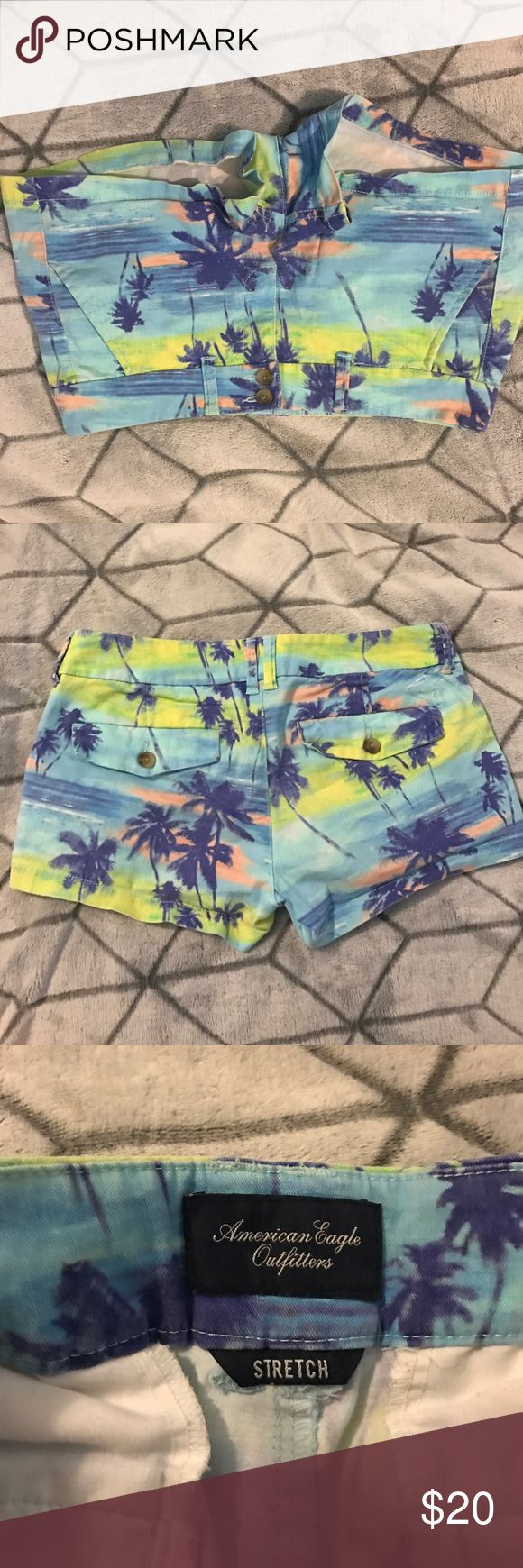 American Eagle Tropical Shorts Super cute tropcial AEO shorts! Great condition; I just never wear them anymore. Non smoker home. Willing to come down on price, please make offers. :) American Eagle Outfitters Shorts