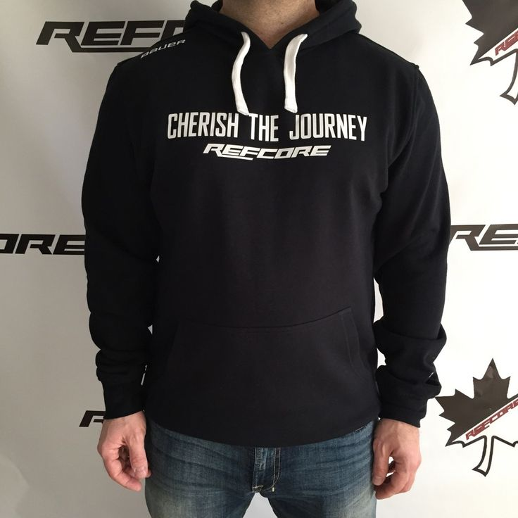 REFcore Cherish the Journey™ hoodie by Bauer Hockey.  Premium Quality Referee Apparel #refereeapparel #hockey #referee #apparel #refereehoodie #hoodie #hockeyhoodie #cherishthejourney #bauer #refcore #referee #hockeyreferee #ref #hockeyref #cherishthejourney