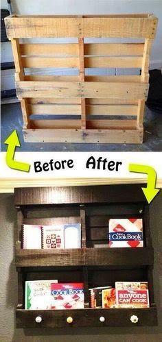 DIY Pallet bookshelf.  Lovely idea.