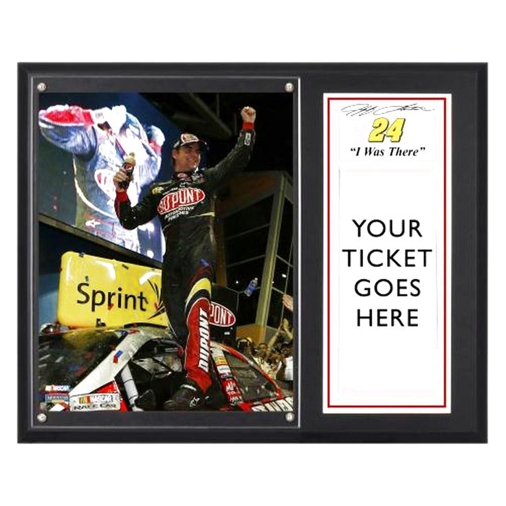 "Jeff Gordon Fanatics Authentic 12"" x 15"" 2012 Ford EcoBoost 400 ""I WAS THERE"" Ticket Plaque - $31.99"