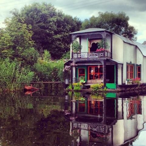 houseboat netherlands. Not a narrow boat but still on water.