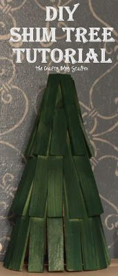 What a cute DIY Christmas Tree! It is made out of shims from the hardware store