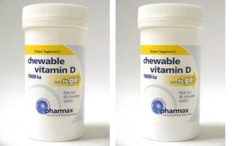Pharmax-Chewable-Vitamin-D-1000-IU-90-Tablets-2-PACK-VM45-90-Exp-2-19-SD2