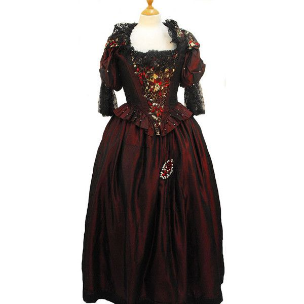 Ladies' Tudor Costume, Costume Hire Direct ❤ liked on Polyvore featuring costumes, ladies costumes, lady costumes, womens costumes, ladies halloween costumes and lady halloween costumes