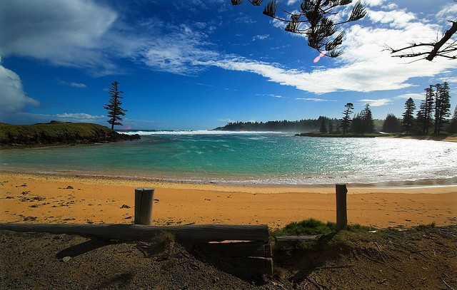 Emily Bay - the most beautiful crescent shaped bay for safe swimming - Norfolk Island, Australia