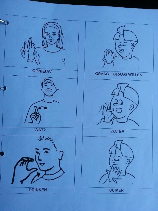 Een droom van mij is dat ik graag gebarentaal zou willen leren.