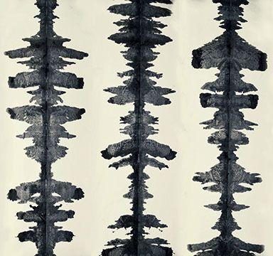 Ink Blots | Porter Teleo Wallpapers | Hand Painted Ink Blot Wallpaper