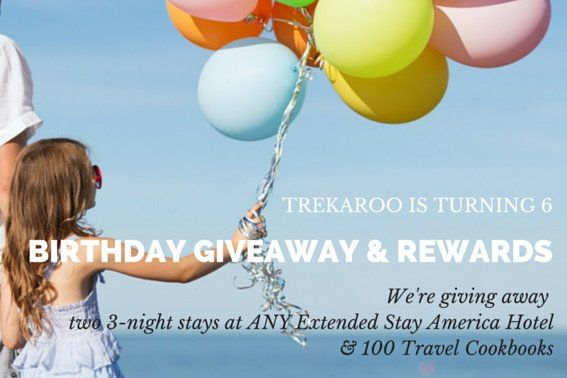 Trekaroo Birthday Giveaways from Extended Stay America  special Thanks to our sponsor, Extended Stay America Hotels!