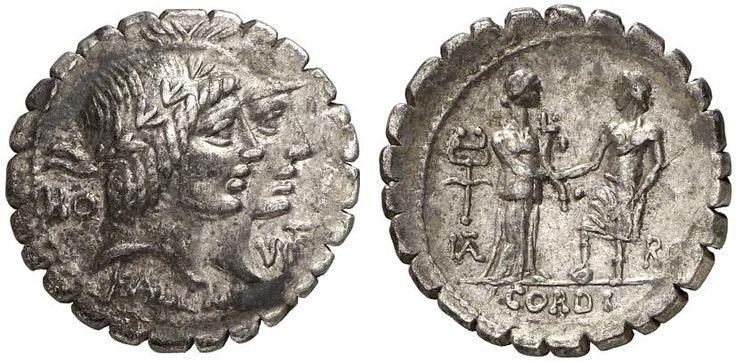 AR Denarius serratus. Roman Coin, Roman Republic, Q.Fufius Calenus and P.Mucius Scaevola. 70 BC. 3,89g. Syd. 797. EF. Starting price 2011: 480 USD. Unsold.