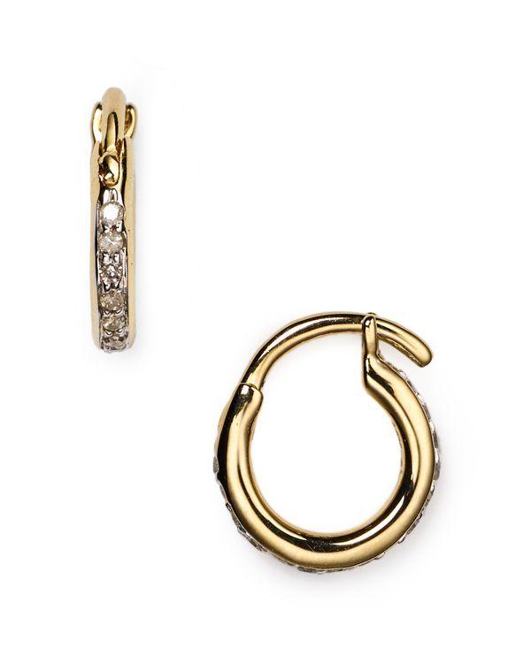 Adina Reyter Pave Huggie Earrings