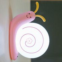 Творческие Милый LED Улитка Настенный Светильник для Детей Дети Детские Лампы Многоцветный Украшения Красочные Ночные Огни Светодиодные Лампы Luminaria