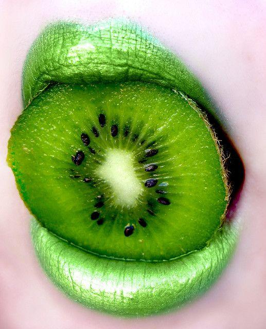 Lime green lips