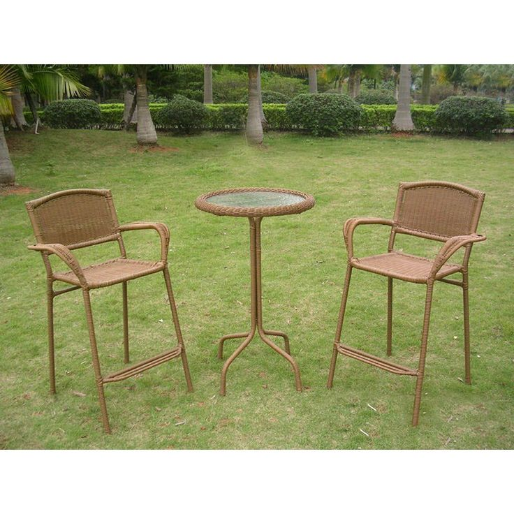 hamilton resin wicker bar height patio bistro set outdoor bistro sets at hayneedle