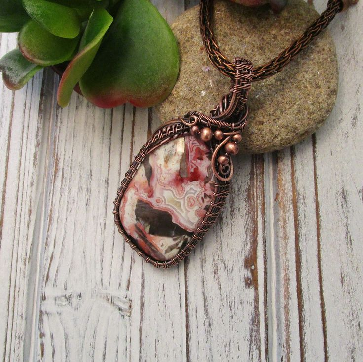 7th copper anniversary gift for wife wire wrapped