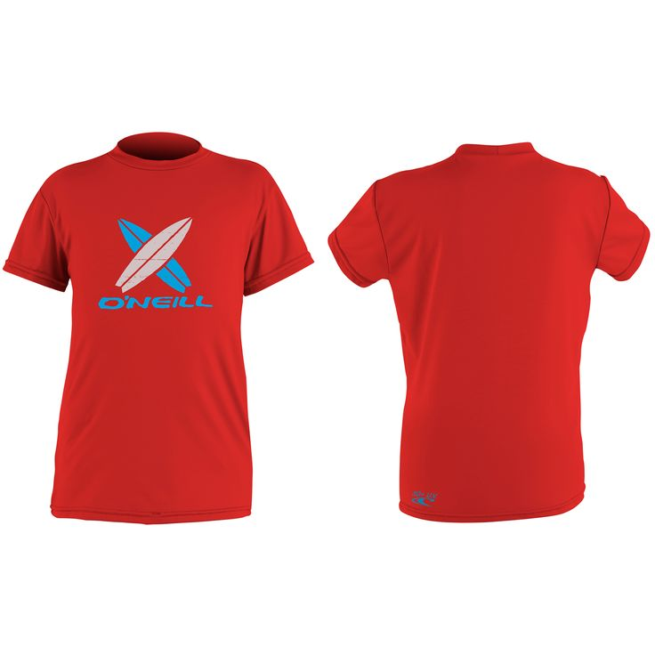 O'Neill Skins short sleeve rash tee toddler boys Red on sale in the UK along with best deals on many other sportswear items available online..