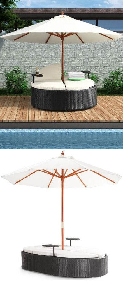 Canopy Double Outdoor Lounger....if only there was a hot tub hiding in there.