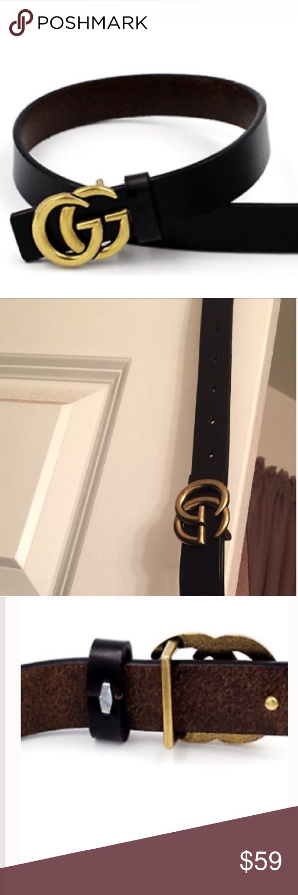 Popular Letter G Thin Belt Genuine leather 0.9in belt (small buckle) not medium not large / brand new without tags /Not Aut! Yu will receive brand new belt not belt in wearing in pictures!!! Gucci Accessories Belts