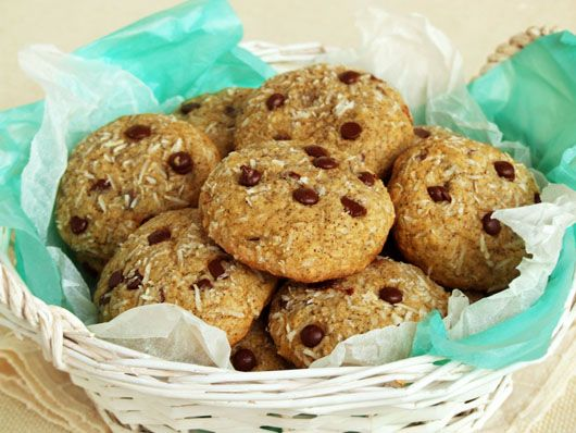 Espresso coconut chocolate chips cookies