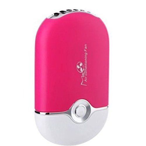 SUNDY Mini-condizionatore d'aria portatile con ventola, con batteria al litio integrata in uso, con ventola USB, nuovo 2015 hot vendite per casa, ufficio ed esterni, colore: rosa EURO 11,99