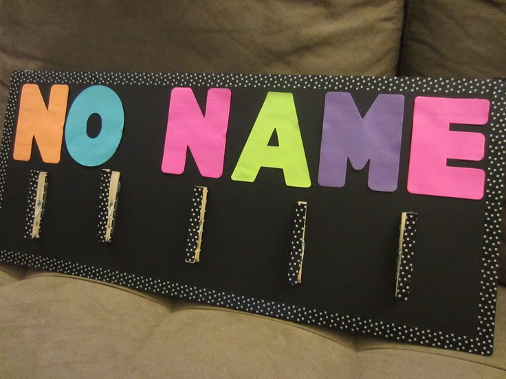 """No Name"" board to clip all those assignments with missing names"