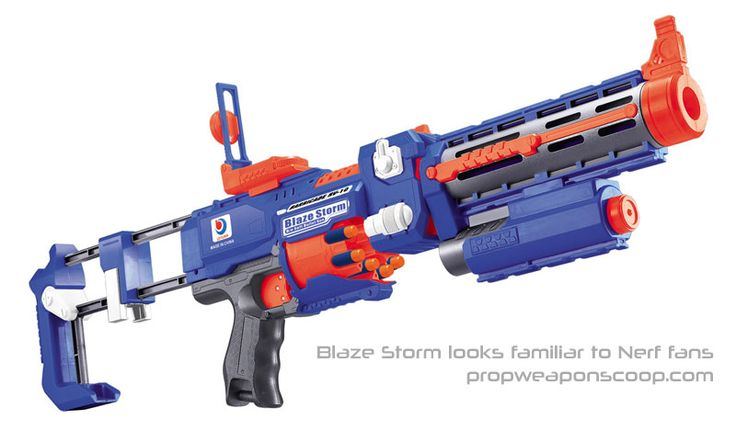 Blaze Nerf ripoff blaster toy bugs