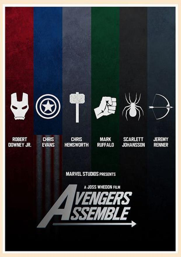 Avengers Alternative Minimalist Movie Poster  - 117