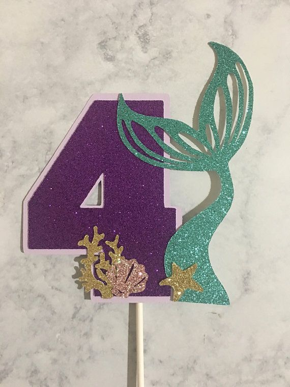 Mermaid Cake Topper Under The Sea Cake Topper Etsy Mermaid Birthday Cakes Mermaid Theme Birthday Little Mermaid Birthday