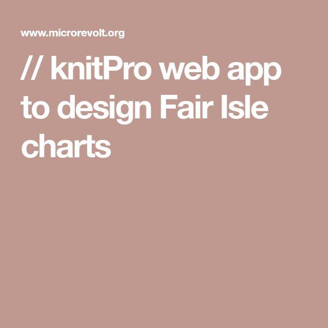 // knitPro web app to design Fair Isle charts