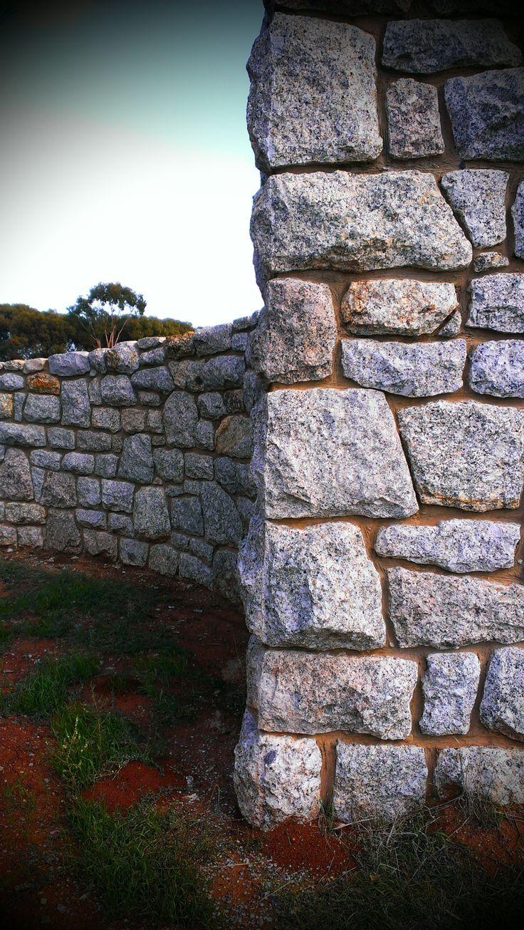 Stone enterance gate at Pyramid Hill  www.mawsons.com.au