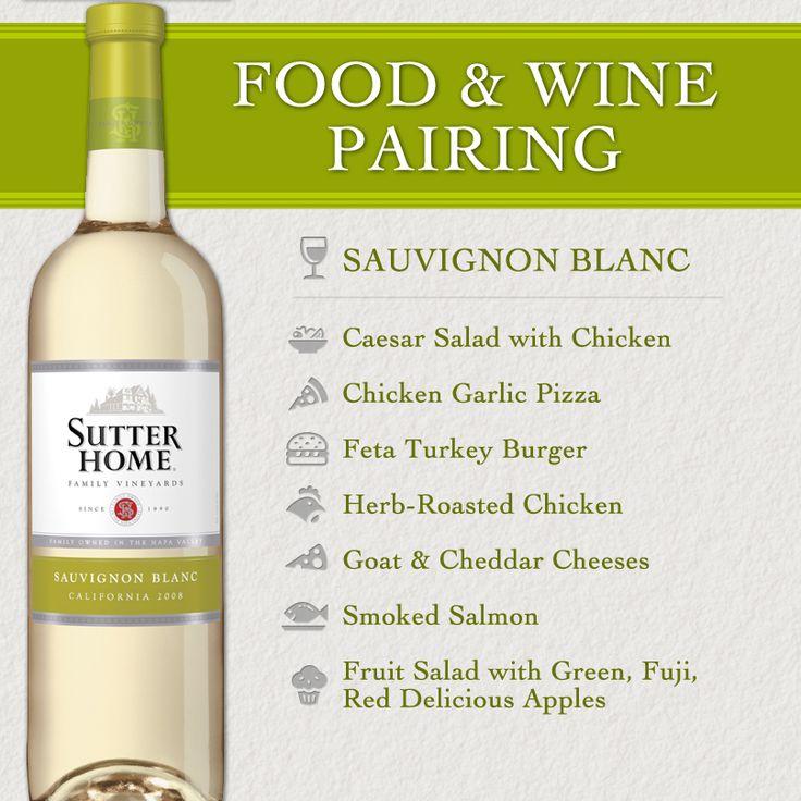 #WinePairing: Sutter Home Sauvignon Blanc. Grab some fresh food & #wine pairing ideas!