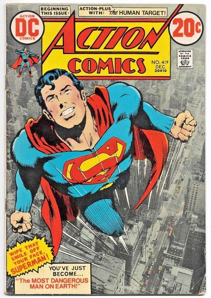 ACTION COMICS #419 FN, Key 1st Human Target, Neal Adams